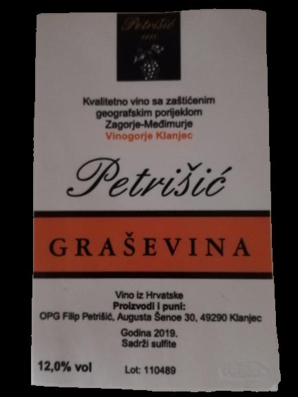 Graševina u rinfuzi vina Petrišić